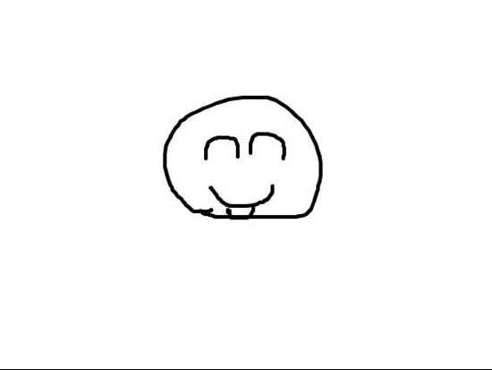 简笔笑脸图片可爱