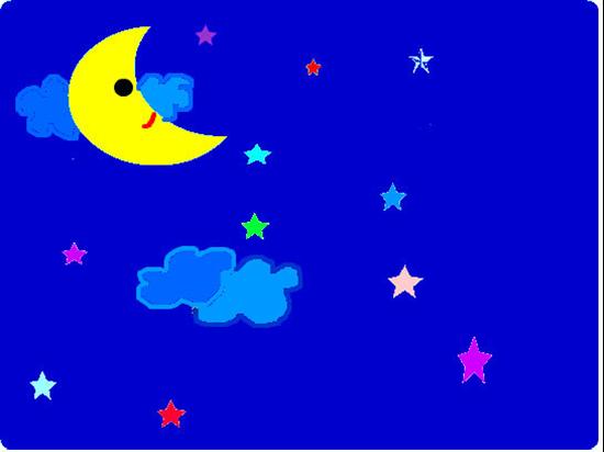 幼儿园夜空简笔画