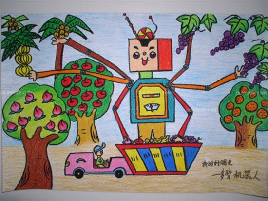 小学生太空绘画作品