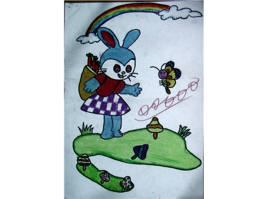 小白兔采蘑菇简笔画; 看图写话 采蘑菇;; 搜乐图片搜索_兔子采蘑菇;