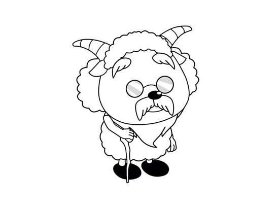 慢羊羊头像简笔画_搜漫画